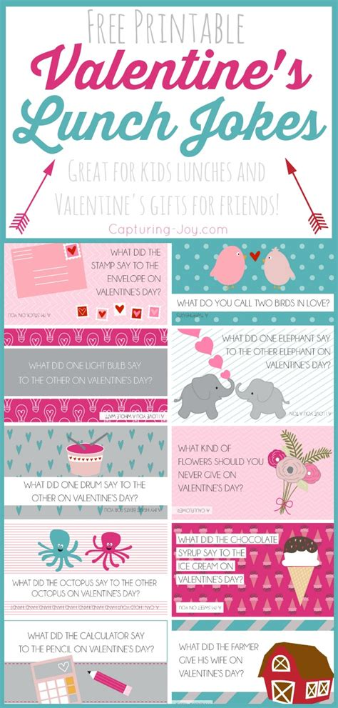 valentines jokes free printable s day lunch jokes capturing