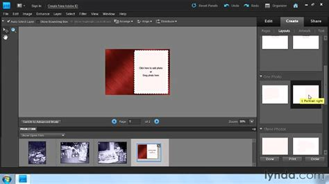 how to make a pattern in photoshop elements 11 photoshop elements how to create greeting cards lynda