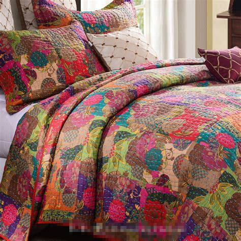 patchwork coverlet export american style luxury embroidered applique