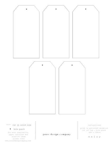 printable tag template to create your own tags feel free to the tag