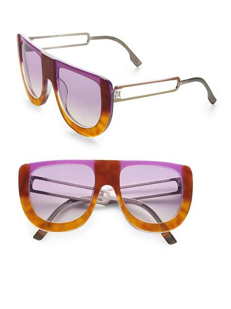Fendi Be Like Sunglasses On Pict 1 fendi colorblock sunglasses in orange lilac lyst