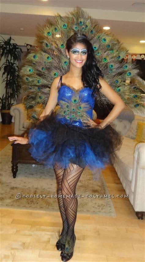 beautiful diy womans peacock costume