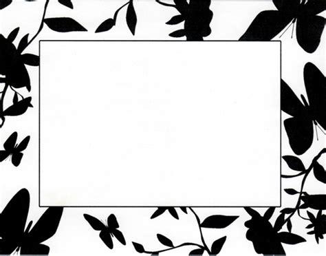 wallpaper border black and white flowers black and white flower borders clipart best