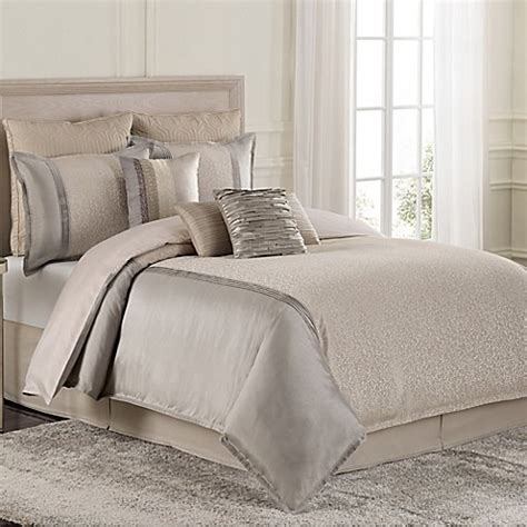buy raymond waites parker king comforter set in grey tan