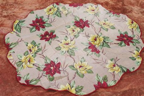 rugs shaped like flowers flower shaped vintage rugs blanket stitched wool cotton grain sack fabric flowered barkcloth