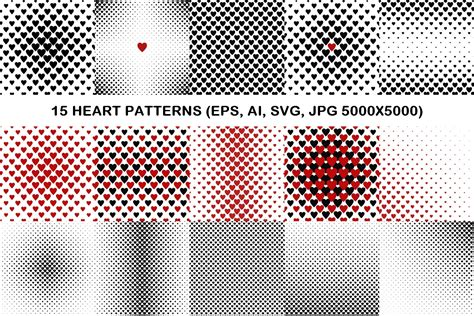 svg pattern jpg 15 heart patterns eps ai svg jpg 50 design bundles