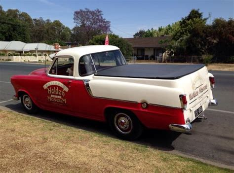 national holden museum model ute outside museum from 1950s picture of national