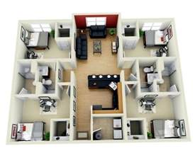 House With 4 Bedrooms awesome 4 bedroom house plans indian style 3d arts four bedroom house