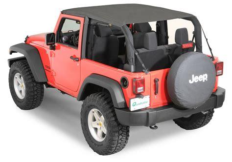 jeep wrangler 2 door soft top quadratop 13835 35 bimini top plus in black for 07