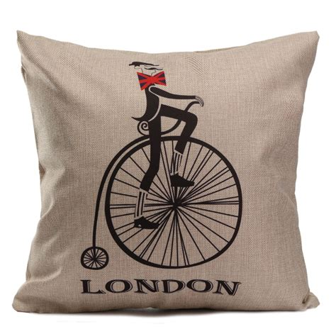 vintage british home decor vintage british style linen home decor sofa throw pillow