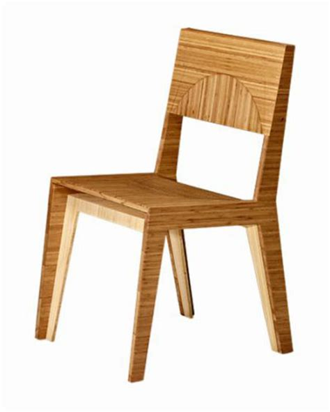 hollow dining chair made of bamboo green design