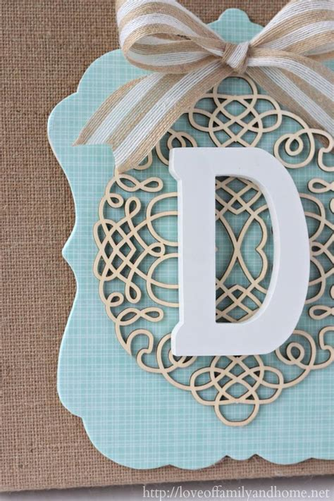 how to make a layered burlap monogram diy wall decor