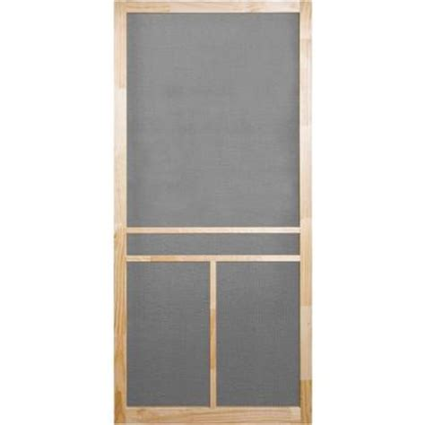 Wooden Screen Doors At Home Depot by Screen Tight 36 In X 80 In Unfinished Wood T Bar Screen