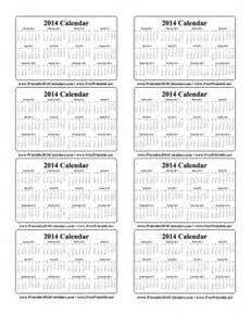 wallet size calendar template printable 2014 wallet calendar