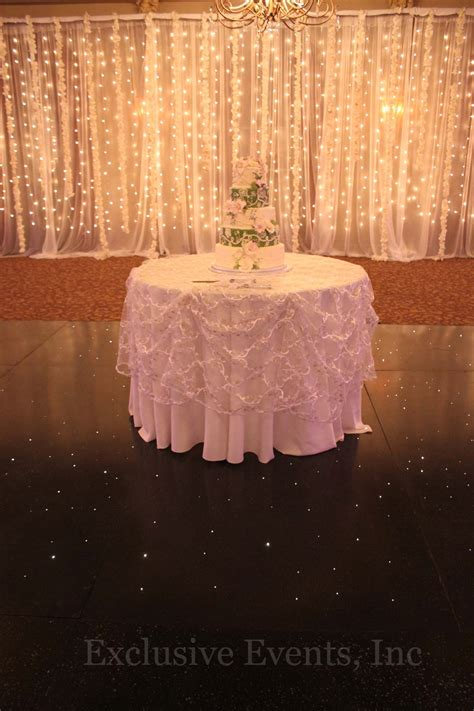 light curtain wedding exclusive events staging backdrops and dance floors