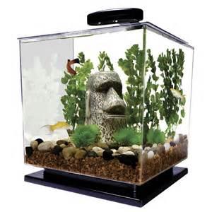 Aquarium Fish Tank 3 Gallon Light LED Tetra Cube Betta Goldfish
