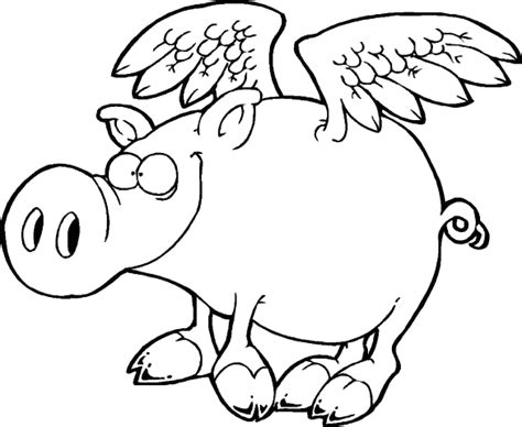 flying pig coloring page g fat pig colouring pages