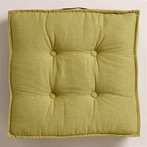 green khadi tufted floor cushion world market