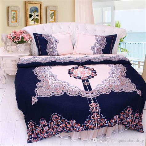 round bed sheets round bed bedding set cotton circle bed clothes great dynasty indigo home duvetcover