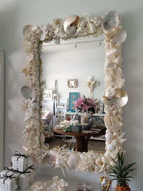 shell bathroom mirror shell mirror my craft ideas pinterest shell sea