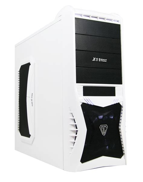 white pc case fans cit vantage angel white limited edition with card reader