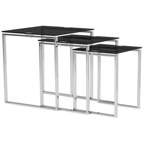 black nesting end tables city furniture black glass nesting end table