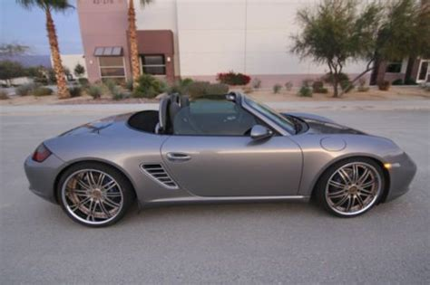 custom 2005 porsche boxster find used 2005 porsche boxster metallic gray convertible