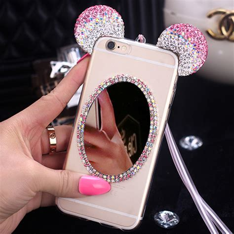 Samsung A 7 2016 50minnie Mickey 3d Softcase Silicon Disney A72016 buy luxury 3d bling glitter mickey mouse ears rhinestone clear transparent cases cover