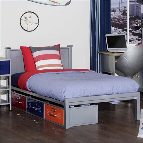 locker bedroom furniture locker twin size bed with 3 drawers elite 35 6701 997