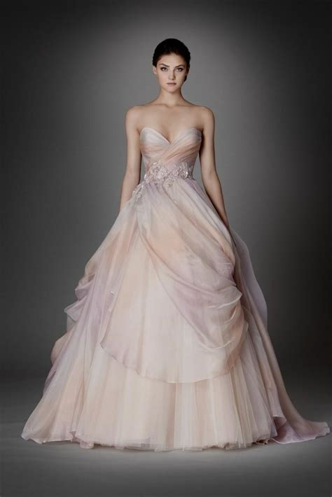 kleinfeld princess wedding dresses pink wedding dress lazaro naf dresses