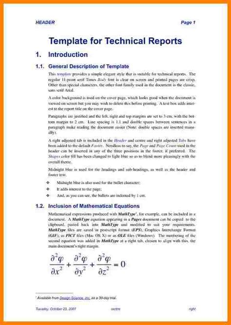 technical report template 7 technical report template introduction letter