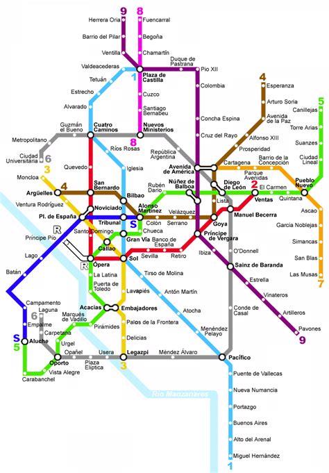 madrid metro map pin madrid metro map on