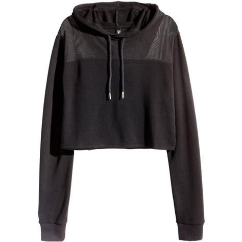H M Sweater Crop Wanita Original Sweater H M Cewek Original Termurah h m cropped hooded sweatshirt 20 liked on polyvore featuring tops hoodies sweatshirts