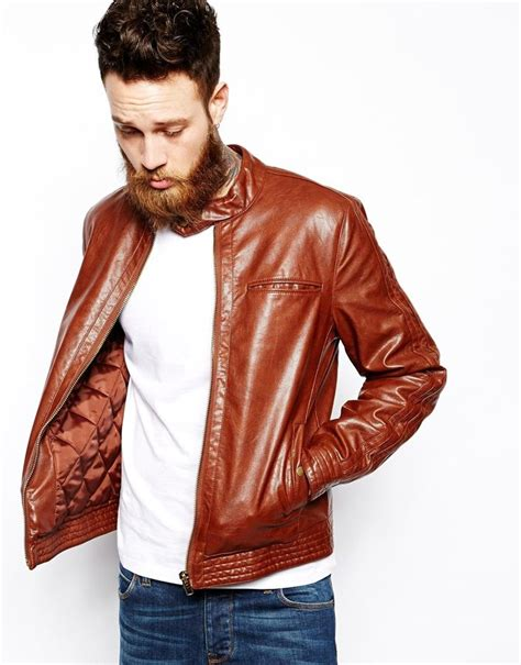 Korean Jaket Leather Brown Style 31 brown faux leather jacket mens jackets review