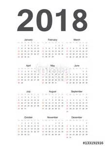 Calendar 2018 Europe Quot European 2018 Year Vector Calendar Quot Stock Image And