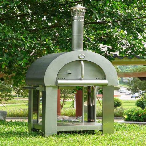 Freestanding Stainless Steel Wood Fired Outdoor Pizza Oven Backyard Ovens Wood Fired Ovens