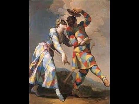 Two Master by Commedia Dell Arte Characters Arlecchino Smeraldina