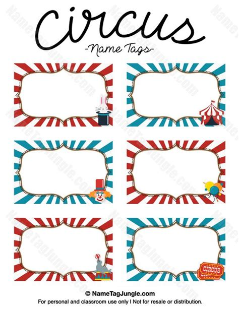 gift cards printable lights decoration free printable circus name tags the template can also be