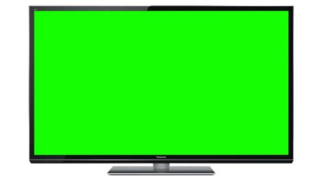 green tv television lcd panasonic 3d tv in green screen free stock footage youtube