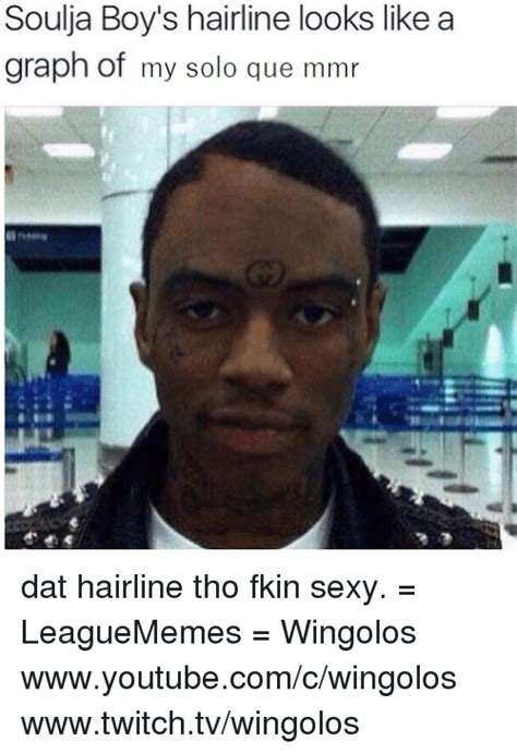 Receding Hairline Meme - 25 best memes about soulja boy hairline soulja boy