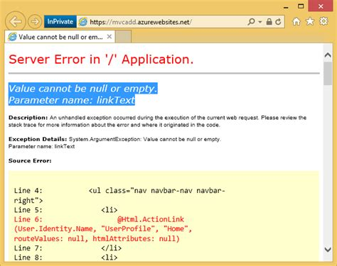 ebay listing error null developing asp net apps with azure active directory