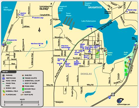 Bed And Breakfast In Saugatuck Mi Map Of Parks Historic Spots Attractions Amp More In