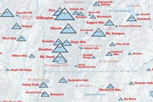 northeast ski resorts map 24x36 poster