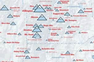 america ski resorts map northeast ski resorts map 24x36 poster