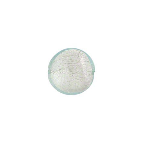 silver foil glass aquamarine silver foil 10mm disc murano glass wholesale
