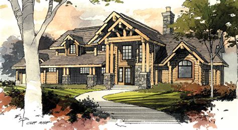 rivermyst timber frame house plans log home design plans
