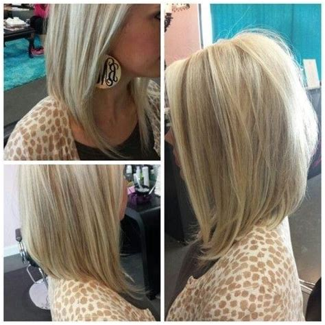 collection  medium length angled bob hairstyles