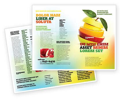 cut apple brochure template design and layout download