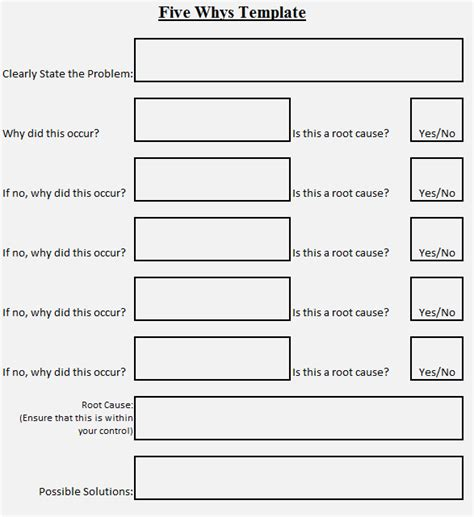 5 why template excel five whys worksheet davezan