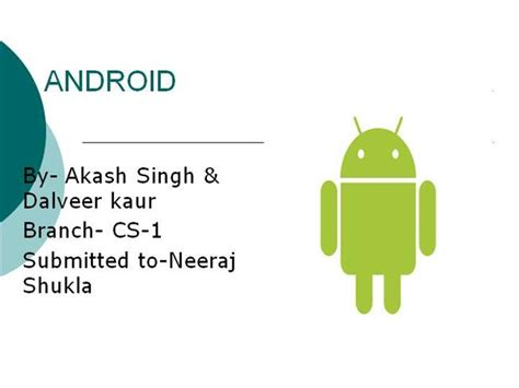 Seminar On Android Authorstream Android Ppt Template